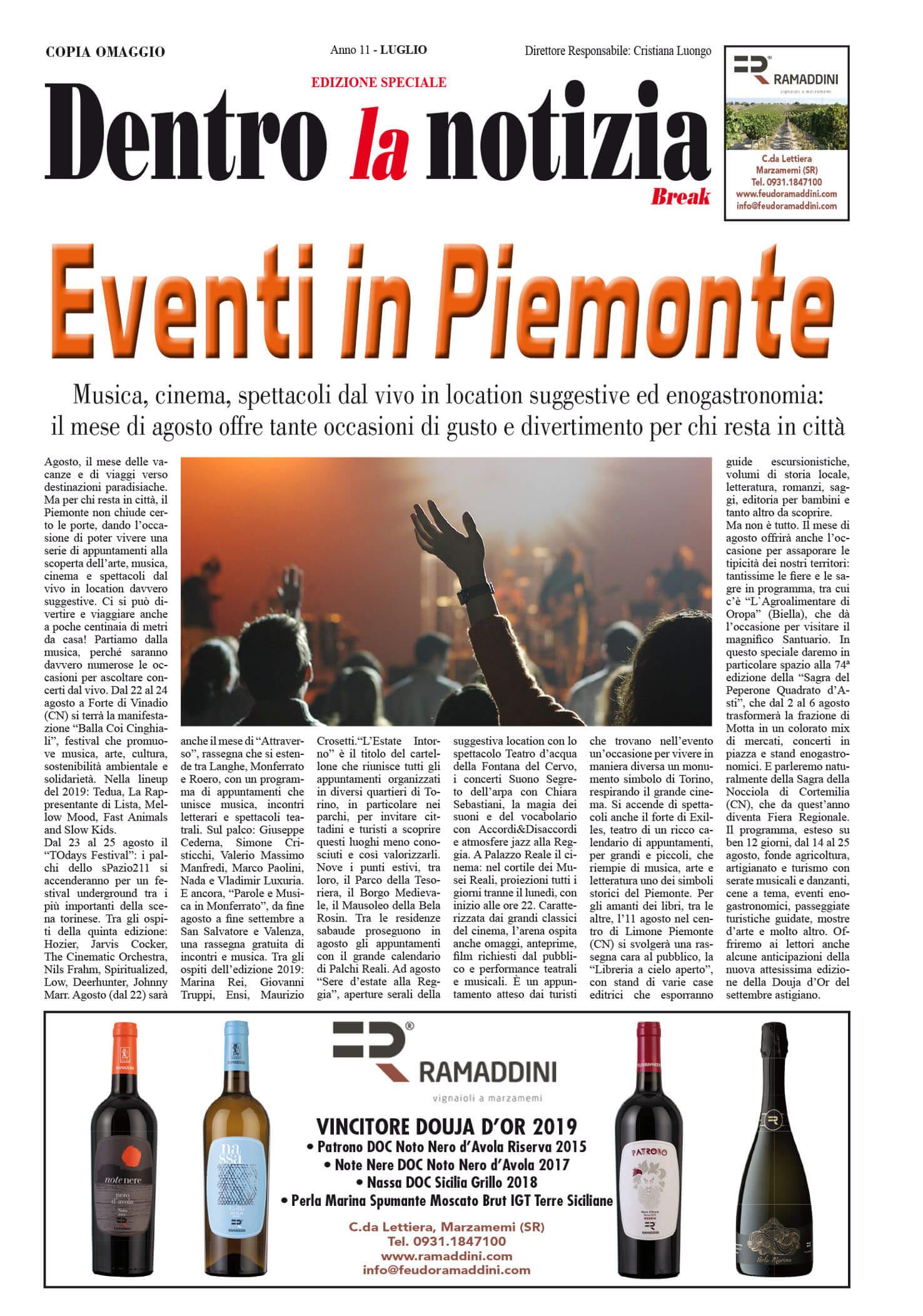 EVENTI IN PIEMONTE